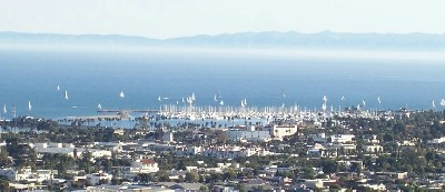 Santa Barbara harbor viewed from my Riviera massage studio location